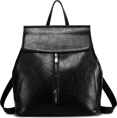 b62230204b Miss Lulu Dámsky elegantný batoh v štýle vintage - čierny - Glami.sk