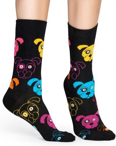 HAPPY SOCKS Černé ponožky s barevnými psy Anmal 36 40 - Glami.cz 484db24635