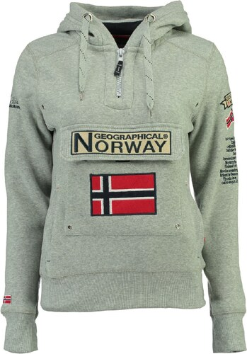 d9391b90c11 Geographical Norway Dámská mikina GYMCLASS LADY ASS A 007 + REPEAT+REPEAT  2 Blended grey