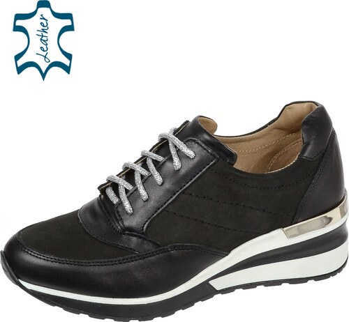 5a1c6c0da1f OLIVIA SHOES Čierne tenisky na trendy podošve ANGEL CA500 - Glami.sk
