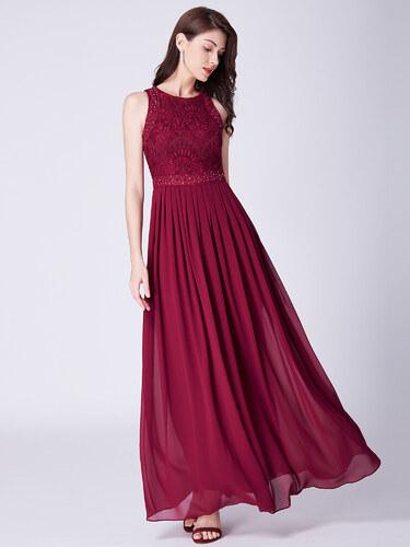Dámské elegantní plesové šaty Ever Pretty bordó 7391 - Glami.cz 099799d3063