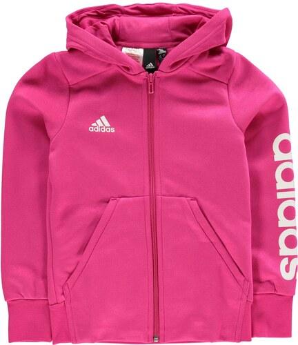 Mikina adidas Linear Zip Hoodie Junior Girls - Glami.sk 90289c9fb02