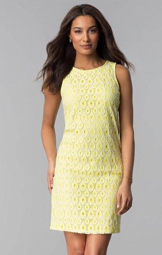 779835a492c6 Glamor Žluté krajkové šaty - Glami.cz