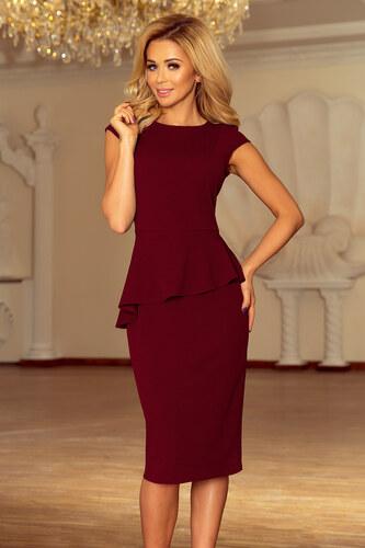194a8e8ffd6f NUMOCO Elegantné bordó šaty 192-6 - Glami.sk
