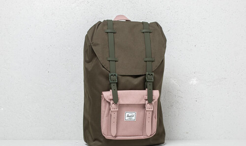 5c3168896b7 Herschel Supply Co. Little America Mid Volume Backpack Forest Night  Ash  Rose