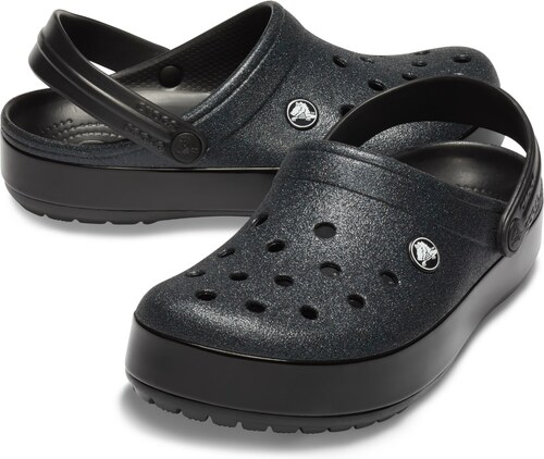 Crocs třpytkaté černé pantofle Crocband Glitter Clog - W6 - Glami.cz e4b89ba2a8