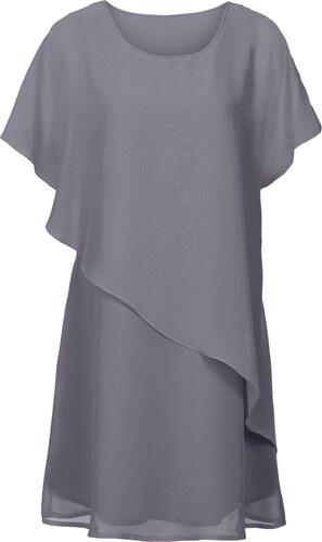 BODYFLIRT boutique Bonprix - robe d été Robe tissée gris manches courtes  pour femme aa8b84c927ac