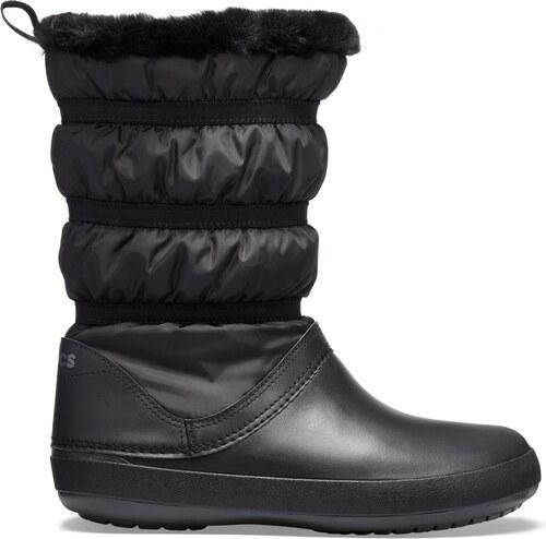 Crocs černé sněhule Crocband Winter Boot Black - W7 - Glami.cz 9d02700091