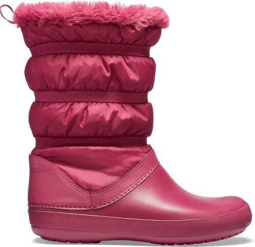 Crocs fuchsiové sněhule Crocband Winter Boot Pomegranate - W7 - Glami.cz 003ac201d1