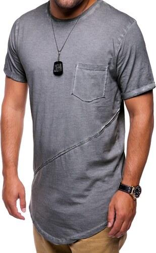 46dd9aa8771 MyTrends Pánské tričko Oversize Washed R-9032 - Glami.sk
