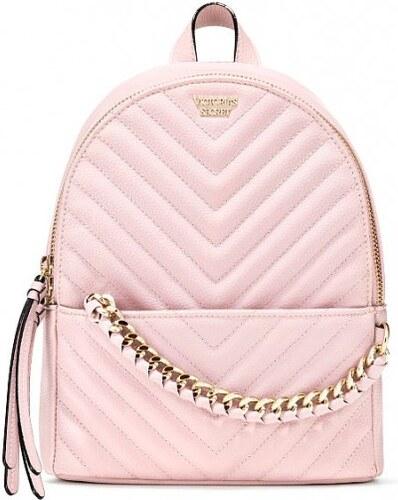 ea83eab7233 Victoria s Secret luxusní pudrový batůžek Pebbled V-Quilt Small City  Backpack