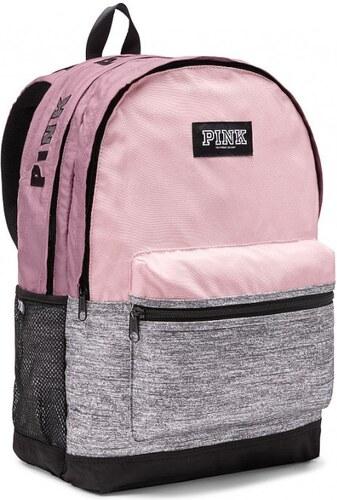 037129cf197 Victoria s Secret Victoria s Secret PINK pohodlný růžovošedý batoh Campus  Backpack