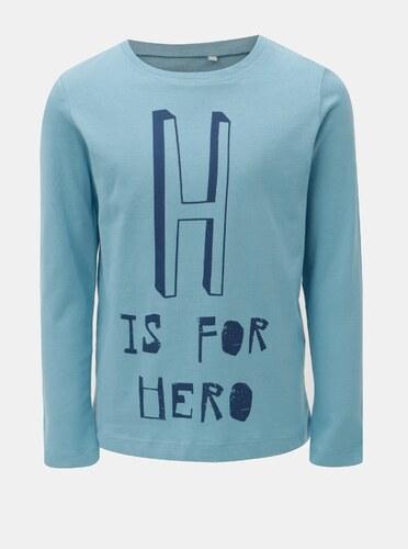 b97b5a9dd65c Modré chlapčenské tričko s potlačou Name it Victor - Glami.sk