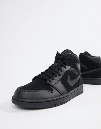 d80f87797c767 Nike Air Jordan 1 Mid Trainers In Black 554724-050 - Black - Glami.sk