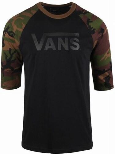 Pánské tričko Vans CLASSIC RAGLAN Black Camo L - Glami.cz 12023bf54a