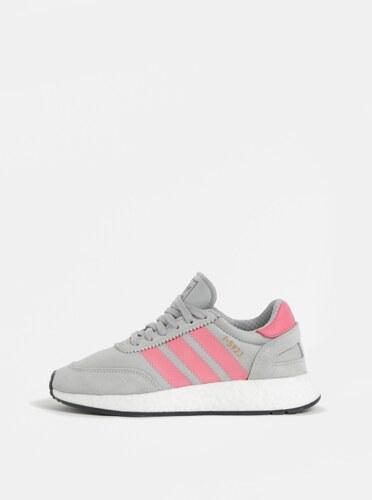 40931f5d9bb Růžovo-šedé dámské tenisky se semišovými detaily adidas Originals Iniki  Runner
