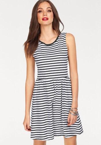 b7a83f642d0e Only Džersejové šaty »OLIVIA« biela-čierna-pruhovaná - Glami.sk