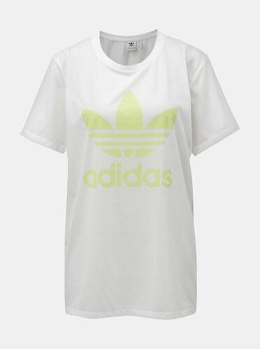 5bc9aaff0d6 Bílé dámské volné tričko s logem adidas Originals - Glami.cz