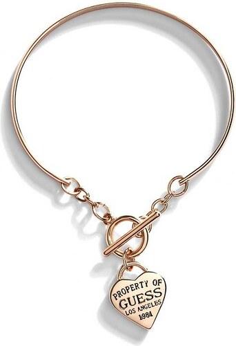 GUESS náramok Gold-Tone Heart Bangle 1f029e34df3