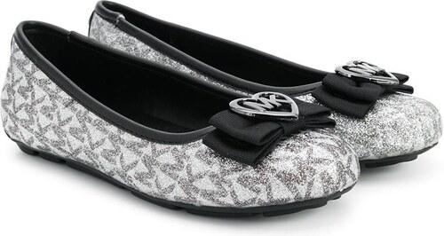 aecba0efddbe Michael Kors Kids logo glittery ballerinas - Grey - Glami.sk