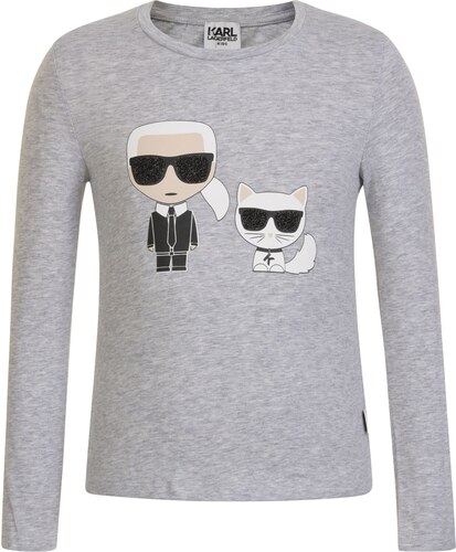 Karl Lagerfeld Girls Character T Shirt Gris Chine - Glami.cz ad61728d828