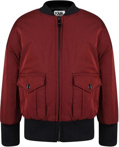 Karl Lagerfeld Girls Skool Bomber Jacket Crimson - Glami.cz ab54f2b552c