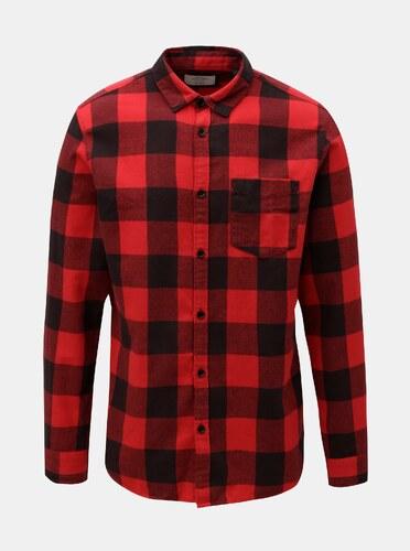 Červená kostkovaná košile Jack   Jones - Glami.cz 3c525cde5e