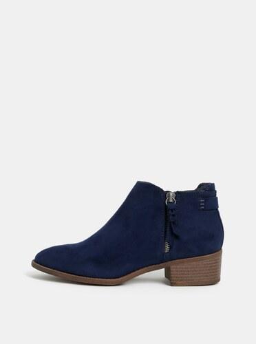 d1fbdfae18 Tmavomodré členkové topánky v semišovej úprave Dorothy Perkins ...