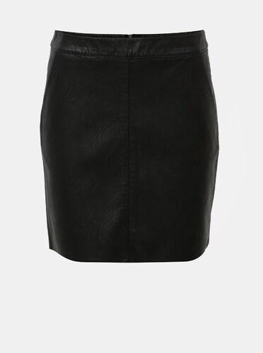 d9773be46fdd Černá koženková mini sukně s kapsami Dorothy Perkins - Glami.cz