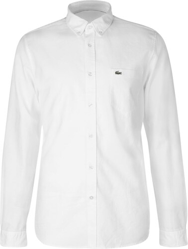 Lacoste Button Down Oxford Shirt White 816281 - Glami.cz 56905733fd