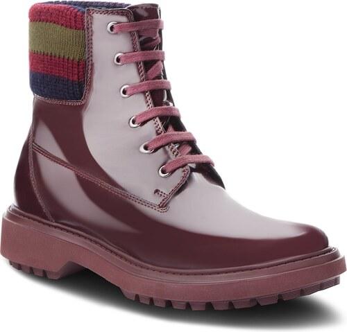 -32% Turistická obuv GEOX - A Asheely B D847AB 000BC C7357 Dk Burgundy 4ce8b42bb72