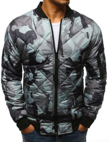 Manstyle Stílusú férfi terepszínű kabát steppelt kabát bomber szürke  terepmintás a1bd48ac37