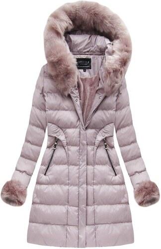 The SHE Ružová zimná bunda s kožušinou - Glami.sk 966ea53dad4