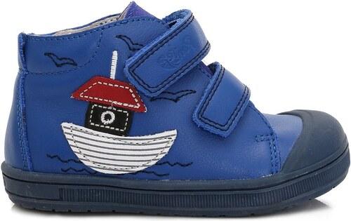 Ponte 20 Chlapecké kožené boty s lodičkou - modré - Glami.cz 806c09bdd9