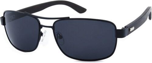 e2f4e05dc Hipsters Pánske slnečné okuliare James Mystery polarizačné čierne ...
