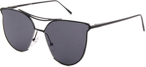 -25% Hipsters Slnečné okuliare Aviator Lady Black dámske čierne sklá čierny  rám af175b62424