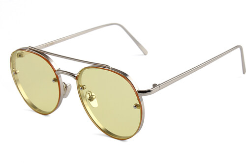 Hipsters Slnečné okuliare Hipster Yellow - Glami.sk 51e73b41caa