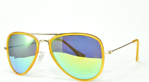 2b74a5fd5 Hipsters Slnečné okuliare Aviator Pilot XS Yellow - Glami.sk