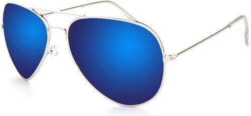 -19% Hipsters Slnečné okuliare Aviator Pilot Style polarizačné modré f06a43480e7