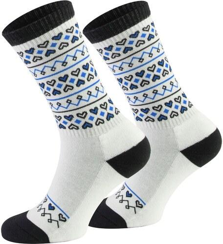 Ponožky Walker s Folk s lidovým motivem bílo- modré - Glami.cz b25d516689