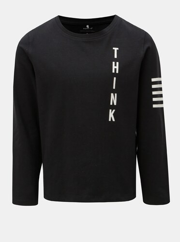 b70b2e45150c Čierne chlapčenské tričko s potlačou Name it Okyo - Glami.sk