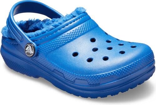 Crocs Chlapčenské zateplené sandále Kids  Classic Fuzz Lined Clog - modré 34f935b06d