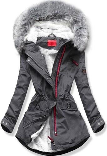 Butikmoda Szürke színű téli parka kabát - Glami.hu f2f2445d3f