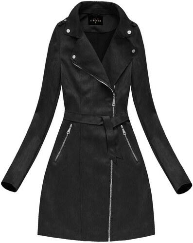LIBLAND Dámský podzimní kabát černý (6004) - L (40) - Glami.cz 0a59fe149f