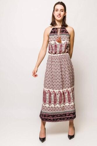 Rouzit Dlhé béžovo-hnedé vzorované šaty na ramienka - Glami.sk 5dae9ad0ab6