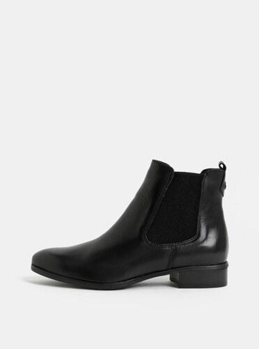 Čierne kožené chelsea topánky Tamaris - Glami.sk 35277ea6de5