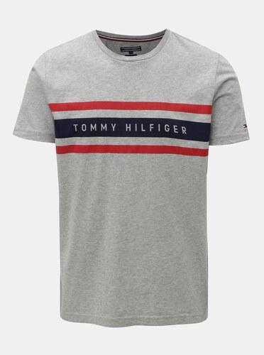 937b9331c Sivé pánske melírované tričko Tommy Hilfiger - Glami.sk