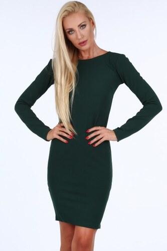 668393370c54 Fasardi Zelené dámske šaty so zlatým zipsom na zadnej strane - Glami.sk