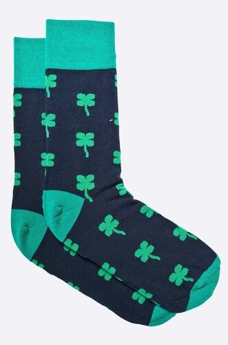 Kravatka Pánské ponožky černé s čtyřlístky 39 42 - Glami.cz 2aa08efd4b