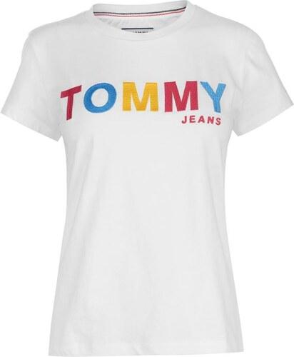 Tommy Hilfiger Dámské triko Tommy Jeans Basic Logo T Bílé - Glami.cz 5521a3f817